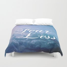 Fearless in a beautiful cloudy sky Duvet Cover