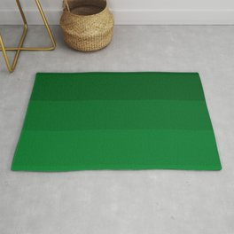 Rich Forest Evergreen Stripes Ombre Rug
