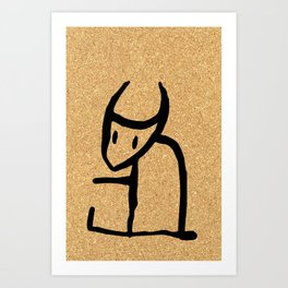 cork paper spirit Art Print