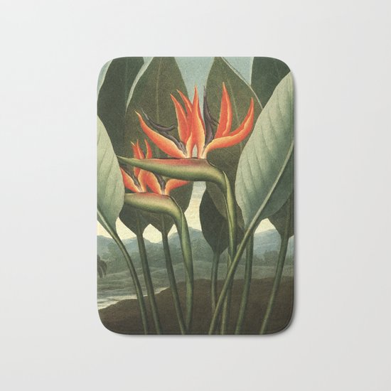 Birds of Paradise : Temple of Flora Bath Mat
