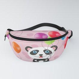 Birthday panda, celebration pattern Fanny Pack