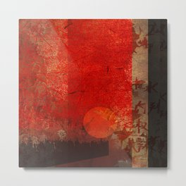 Red mood Metal Print