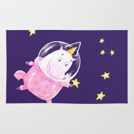 Unicorn Astronaut Rug