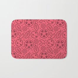 Pizza Toppings Bath Mat