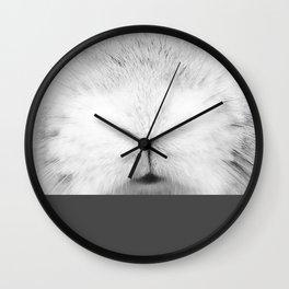 Come closer bunny - slate grey Wall Clock
