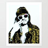 kurt rahn Art Prints featuring Kurt  by ROCK POSTERS