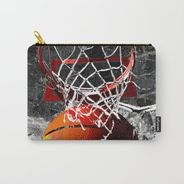 Basketball art print swoosh 101 Carry-All Pouch
