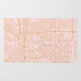 Colorado Springs map Rug