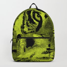 Tiger with Lime Background Backpack