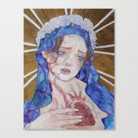 madonna Canvas Prints featuring Madonna by Danielle Renée Long