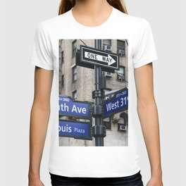 New York City Street Names T-shirt