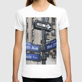 New York City Street Names T-shirt