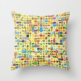Emoji Madness Throw Pillow