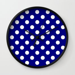 POLKA DOT (WHITE & NAVY) Wall Clock