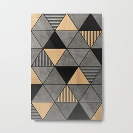 Concrete and Wood Triangles 2 Metal Print