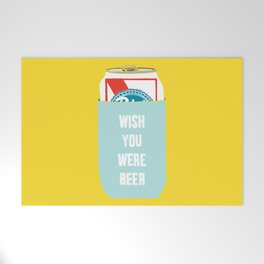 Wish You Were Beer Welcome Mat