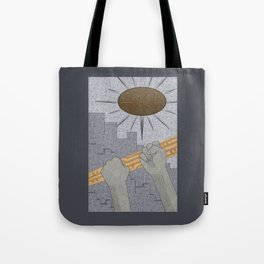 All Barriers Crumble and Fall - (Artifact Series) Tote Bag