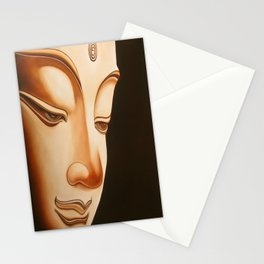 Tranquil oil painting of a peaceful Buddha  Stationery Cards