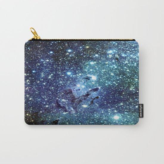 GalaxY Nebula Blue Teal Indigo Carry-All Pouch