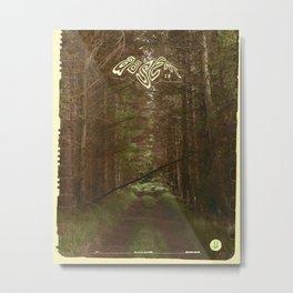 Absent Woodland Metal Print