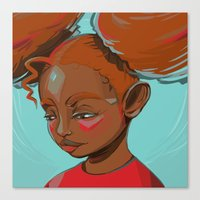 child Canvas Prints featuring child by keiadnae