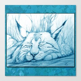 Bobcat nap Canvas Print
