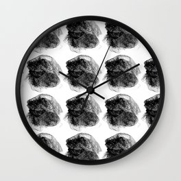 Hairnet Paint Brushes Wall Clock