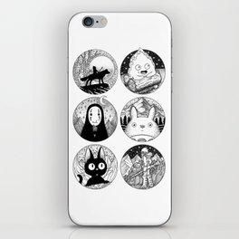 Ghibli Characters iPhone Skin