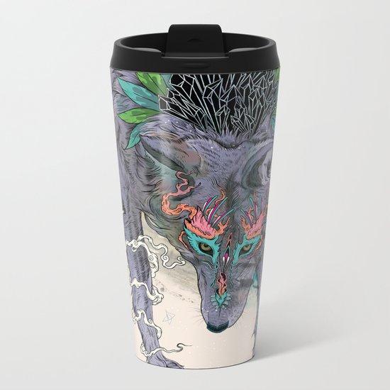 Journeying Spirit (wolf) Metal Travel Mug