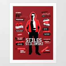 Stiles Stilinski Quotes Teen Wolf Art Print