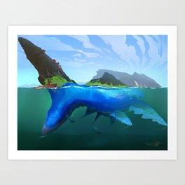 Reef Giant Art Print