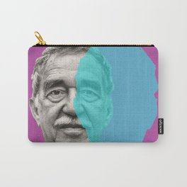 Gabriel Garcia Marquez - purple blue portrait Carry-All Pouch