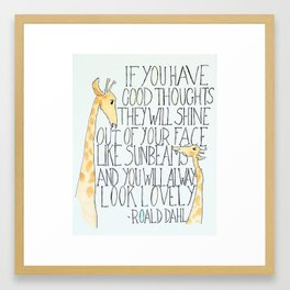 Good Thoughts Framed Art Print