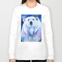 polar bear Long Sleeve T-shirts featuring Polar bear  by Slaveika Aladjova