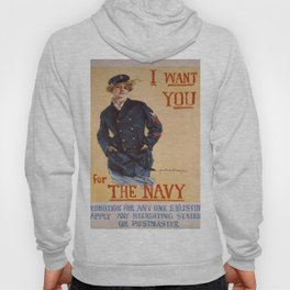Vintage poster - I Want You for the Navy Hoody