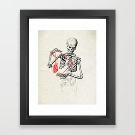 I need a heart to feel complete Framed Art Print