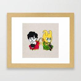 Sherlock and loki Framed Art Print