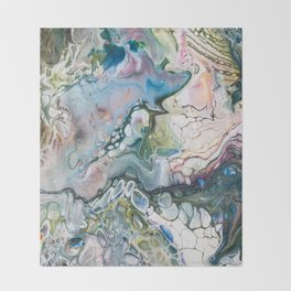 Sea and Land Acrylic Abstract Painting Throw Blanket