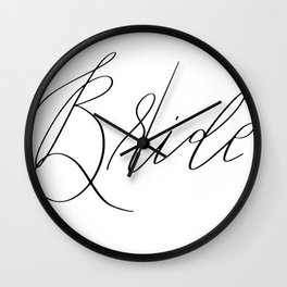 Lettered Bride Wall Clock