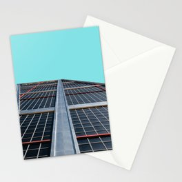 The Gate of Europe tower in Madrid Stationery Cards