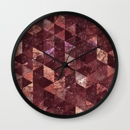Abstract Geometric Background #25 Wall Clock