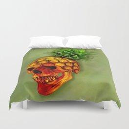 Pineapple Skull Duvet Cover