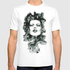 Muon MEDIUM Mens Fitted Tee White