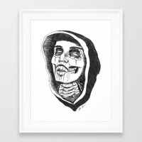day of the dead Framed Art Prints featuring Dead by Omar Guzman