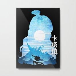 Minimalist Silhouette Katara Metal Print