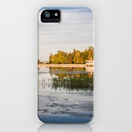 Seascape and sunset iPhone Case