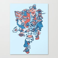 Close-Mouth Grin on a Gap Tooth Brain Freeze Canvas Print