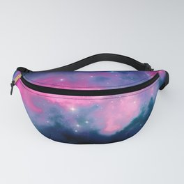 Beautiful Pink and Blue Abstract Cosmic Starry Vista Fanny Pack