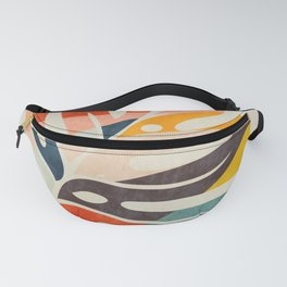 shape leave modern mid century Fanny Pack