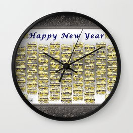 Happy New Year Wall Clock
